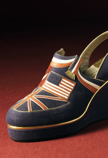 di mauros suede sandals with allied flags