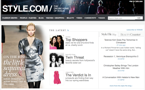style.com screenshot