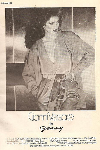 1979 versace for genny ad