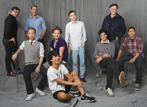 2009 CFDA Swarovski award nominees Clockwise from left: Tim Hamilton, Alejandro Ingelmo, Patrik Ervell,Albertus Q. Swanepoel, Thakoon Panichgul, Justin Giunta, Alexander Wang, Robert Geller, Jason Wu