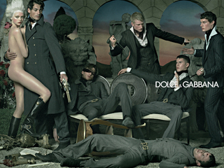 dolce & gabbana delacroix-inspired ad, mixing sex & violence