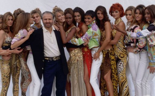 Versace w supermodels 1991 guardian