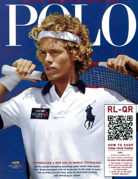 Polo ad with QR code