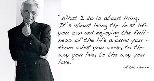 Ralph Lauren w quote